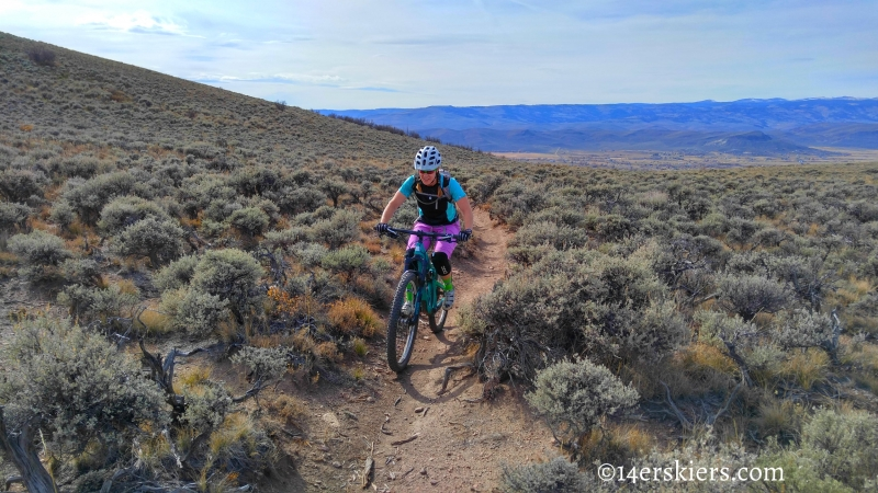 Mountain biking Signal Peak near Gunnison, CO.