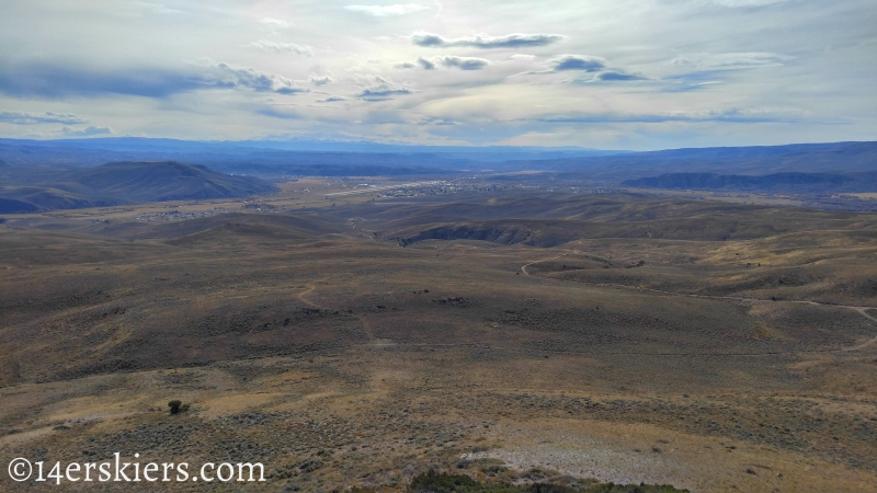 View from summit of Signal Peak near Gunnison, CO.