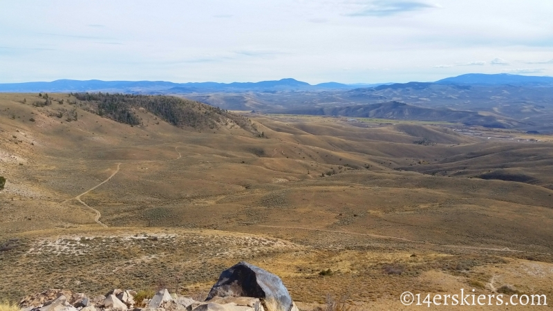 View from Signal Peak summit near Gunnison, CO.