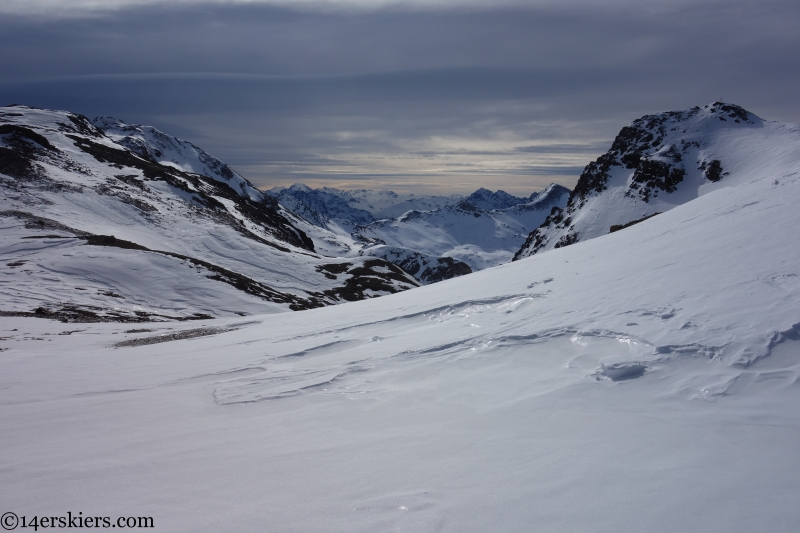 skinning towards kronenjoch pass