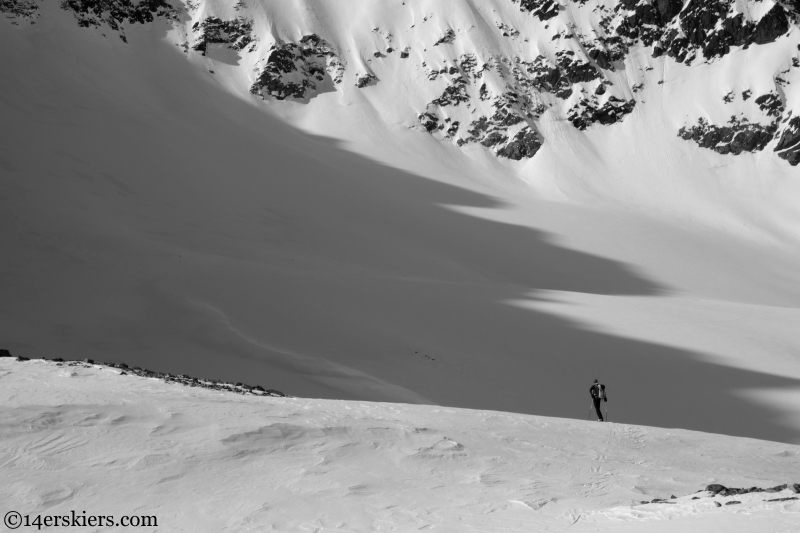 ski traverse in the alps
