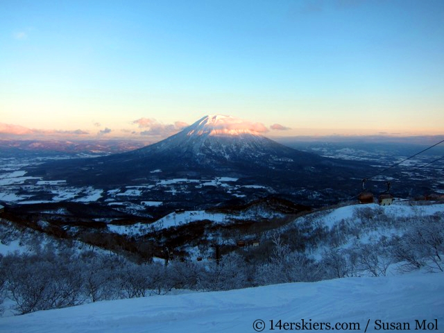 Mount Yotei, skiing in Niseko Japan.