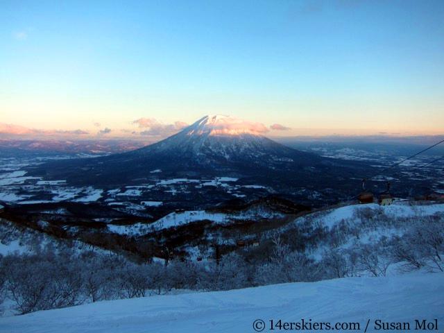 Mount Yotei, skiing in Niseko Japan.