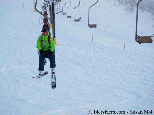 Skiing in Niseko, Japan.