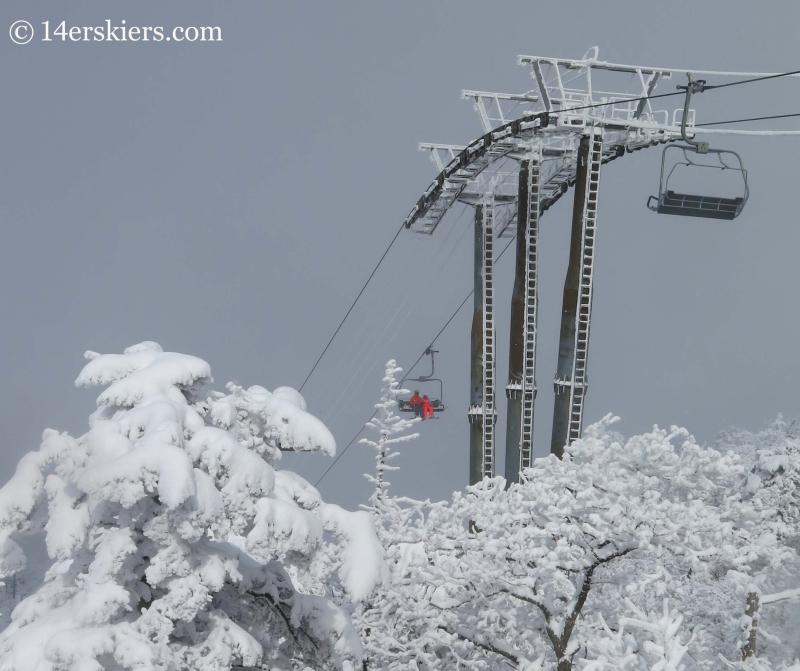 Rainbow chair at YongPyong ski resort.