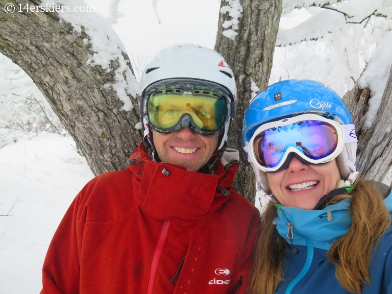 Frank & Brittany Konsella skiing in YongPyong, South Korea.