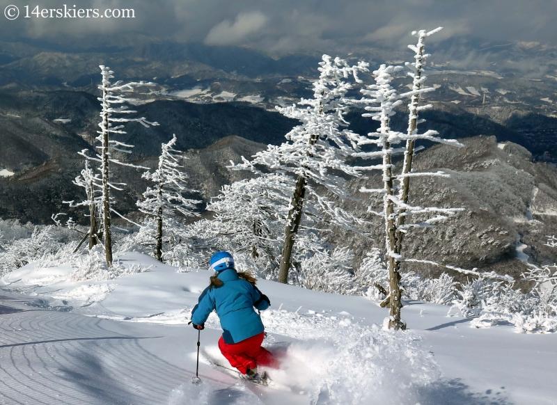 Brittany Konsella skiing in YongPyong, South Korea.