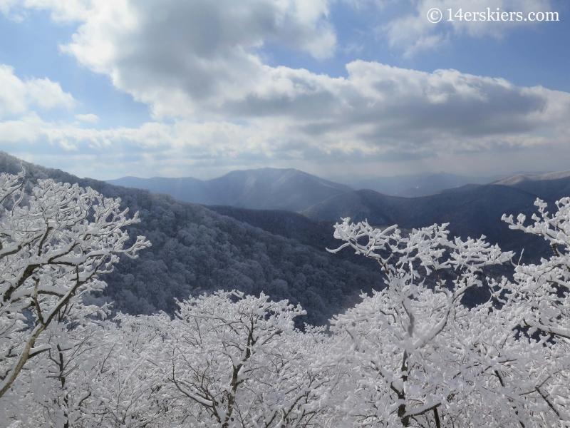 Mountian views from YongPyong ski resort in South Korea.