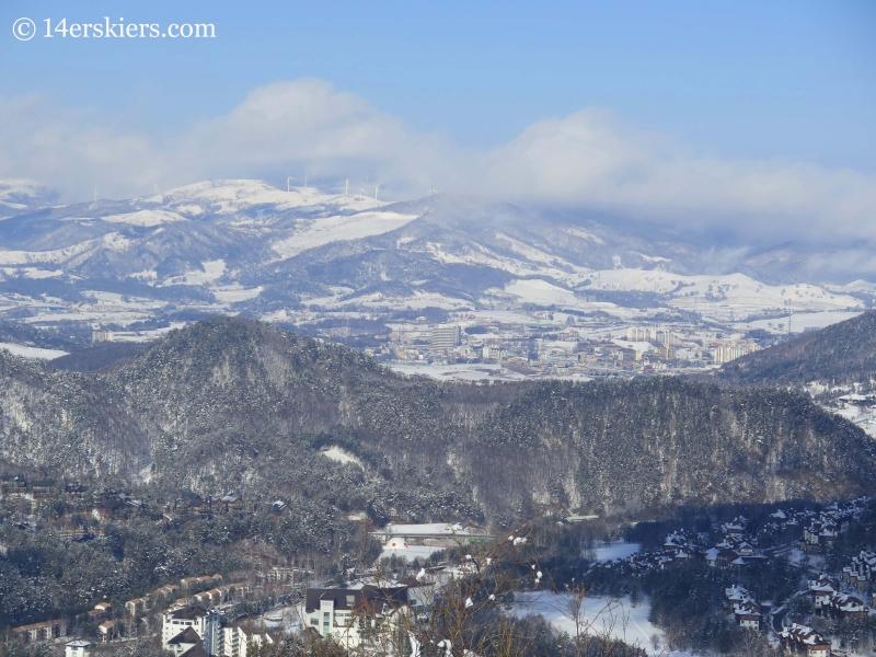town near YongPyong ski resort in South Korea.