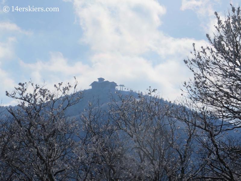 Lodge at top of Dragon Peak at YongPyong ski area in South Korea.
