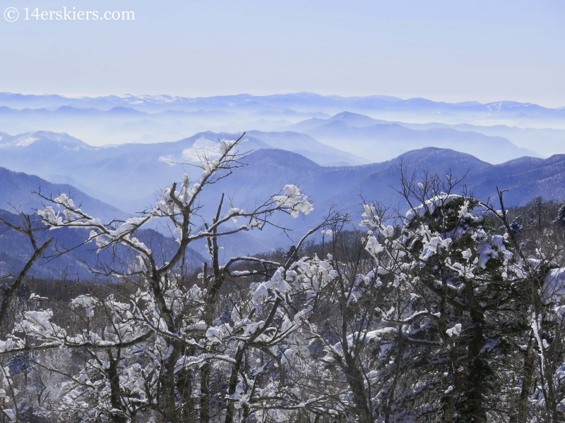 Mountian views from YongPyong ski resort in South Korea.
