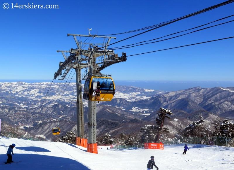 View from YongPyong, South Korea gondola.