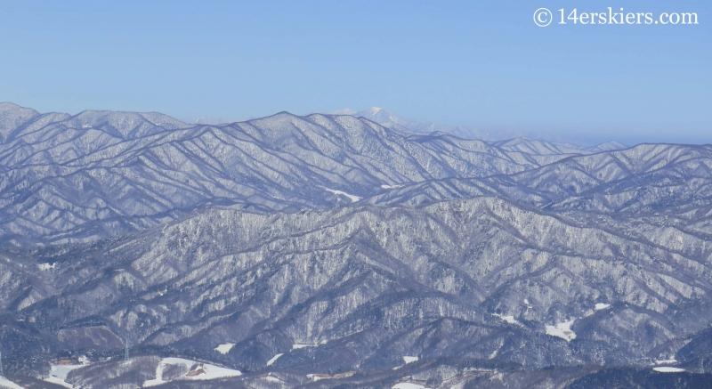 North Korea seen from YongPyong ski resort in South Korea.