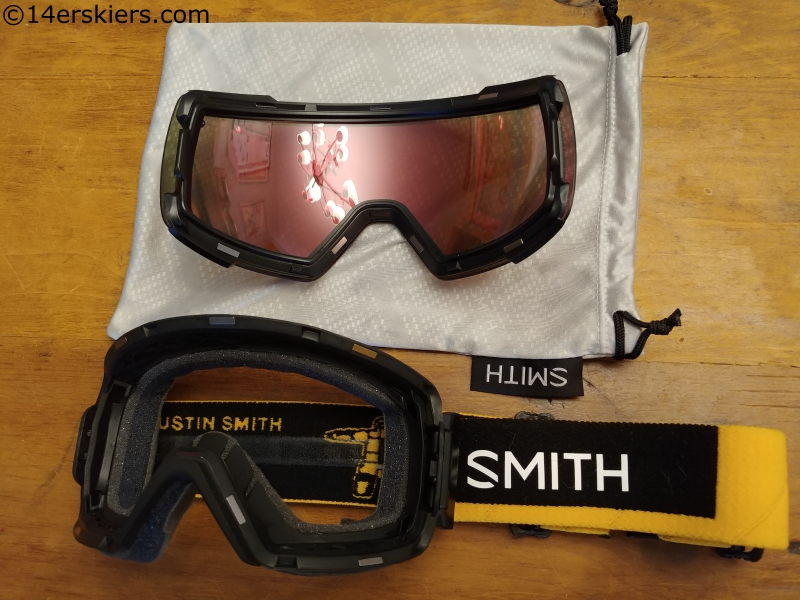 The Smith I/O Mag goggles.  Note the magnets on both the frame and the lens