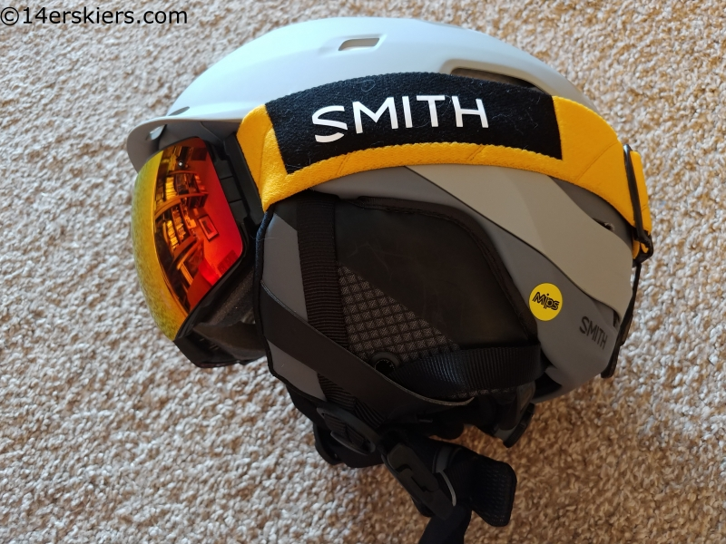 smith quantum mips helmet and I/O Mag goggles