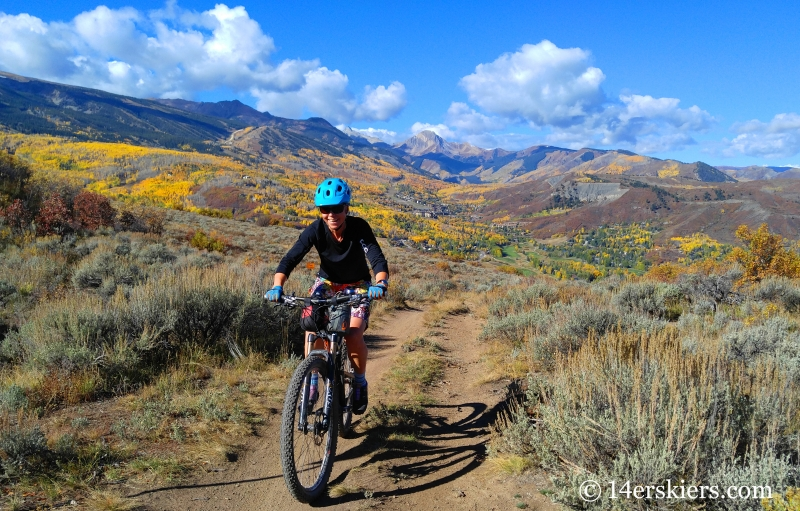 Ann Driggers mountain biking in Snowmass.