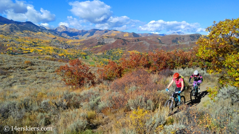 Mountain biking in Snowmass, CO