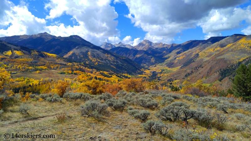 Views from the Rim Trail in Snowmass, CO.