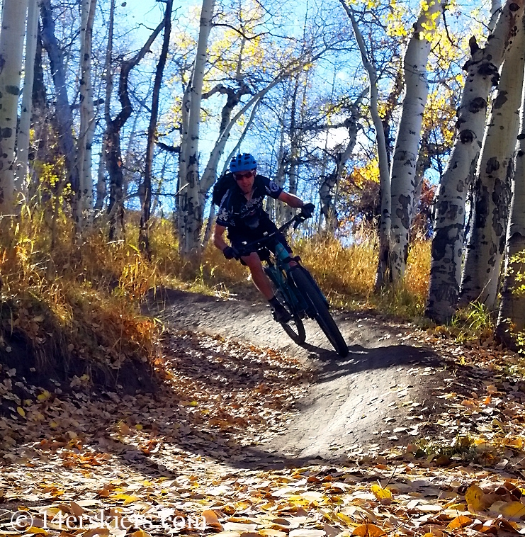 Frank Konsella mountain biking in Snowmass.