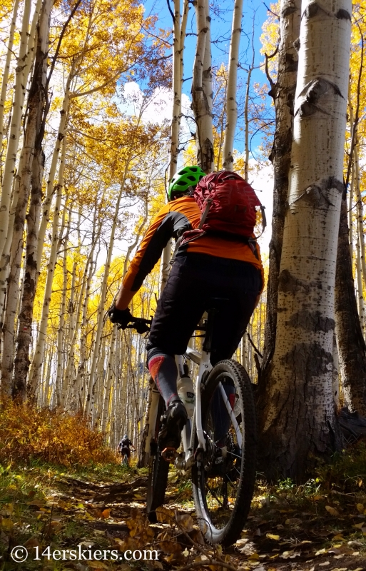 Mountain biking in Snowmass, Colorado.