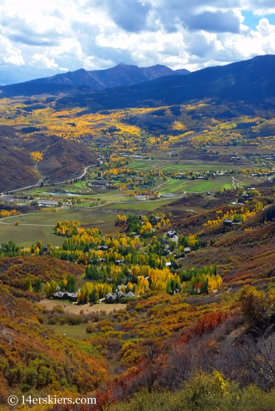 Fall colors in Snowmass, CO.
