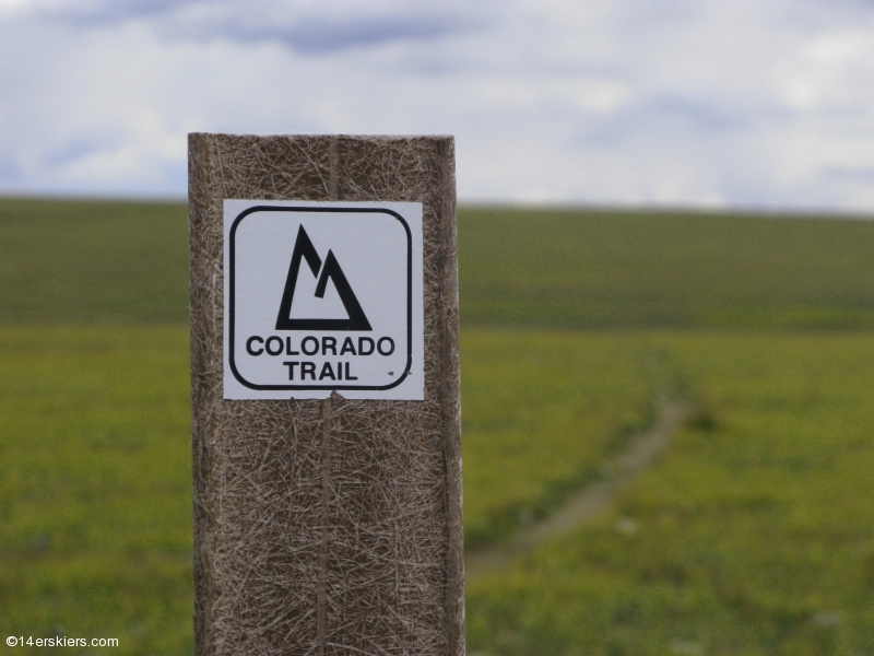 Colorado Trail sign
