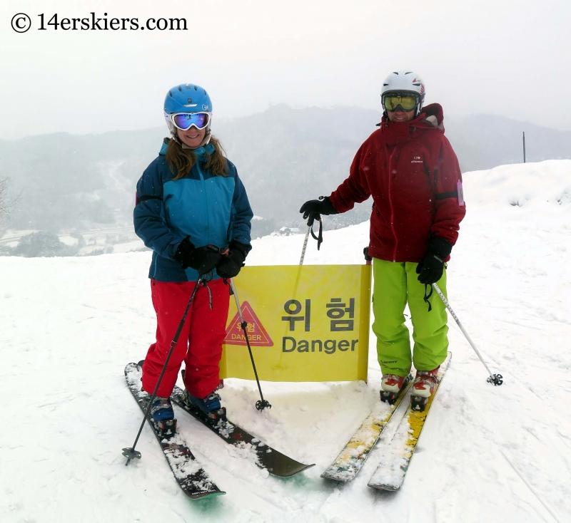 Frank and Brittany Konsella encountering Danger while skiing at YongPyong in South Korea.