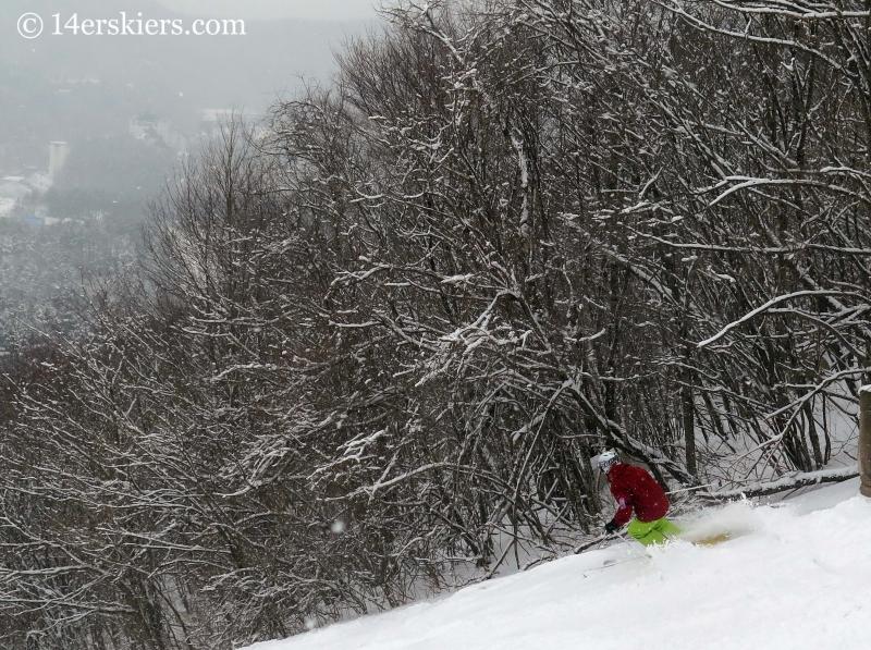 Frank Konsella skiing at YongPyong in South Korea.