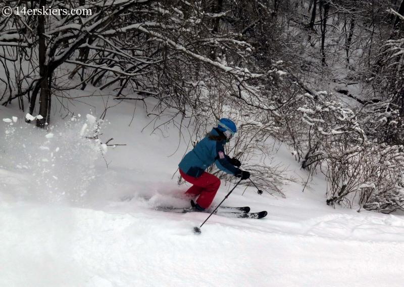 Brittany Konsella skiing at YongPyong in South Korea.