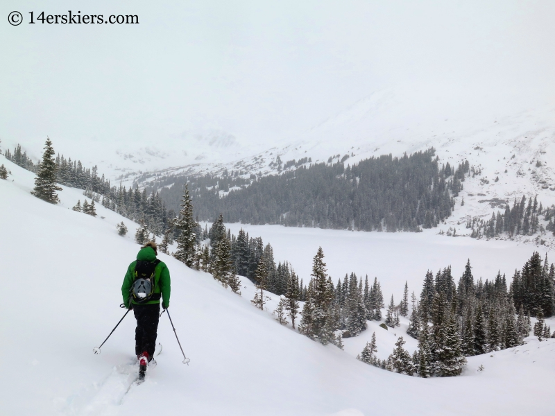 Scott Edlin skinning toward Naylor Lake near Square Top Mountain.