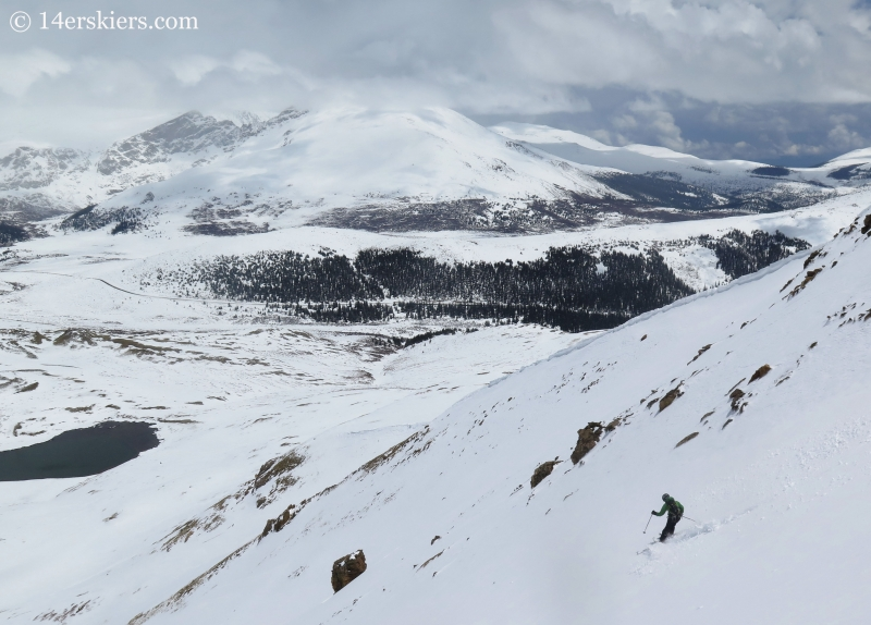 Scott Edlin backcountry skiing on Square Top Mountain.