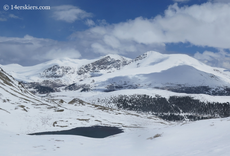 Mount Bierstadt and Evans seen from Square Top Mountain.