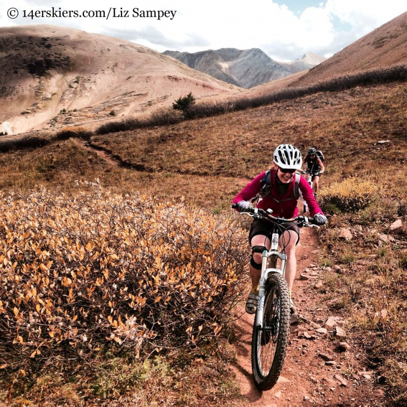 mountain biking Star Pass near Crested Butte
