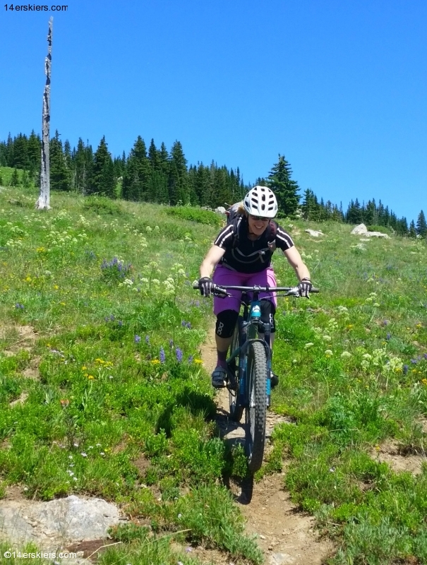 Brittany Konsella mountain biking Soda Mountain near Steamboat Springs.