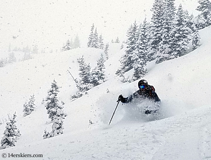 Backcountry skiing in Crested Butte, CO.