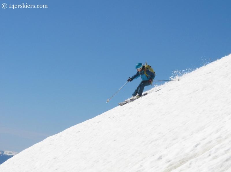 Brittany Konsella skiing Mt. St. John