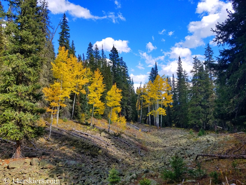 Hiking in fall near Crested Butte.