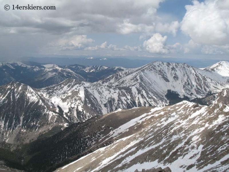 View of Monarch Pass from summit of Tabeguache Peak.