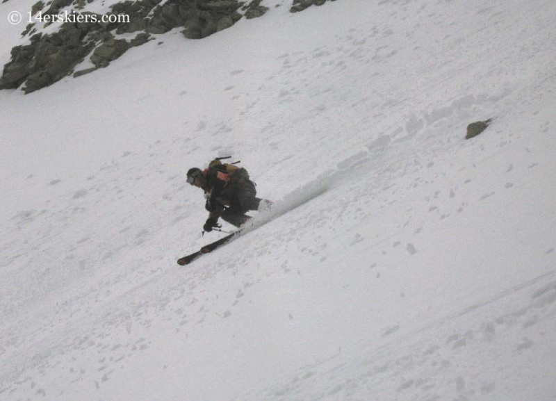 Brad Bond backcountry skiing on Tabeguache.