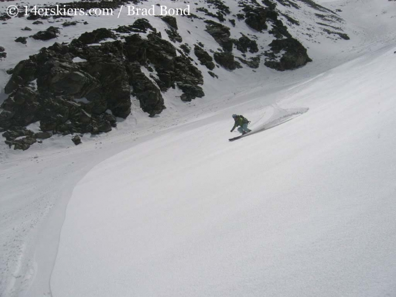 Brittany Konsella backcountry skiing on Tabeguache.