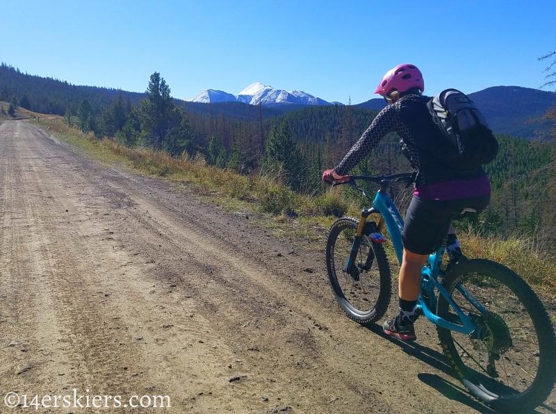 Mountain biking Marshall Pass to Colorado Trail to Tank Seven