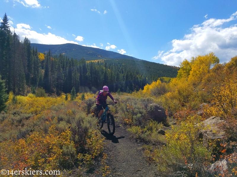 Mountain biking Tank Seven trail near Sargents, CO.