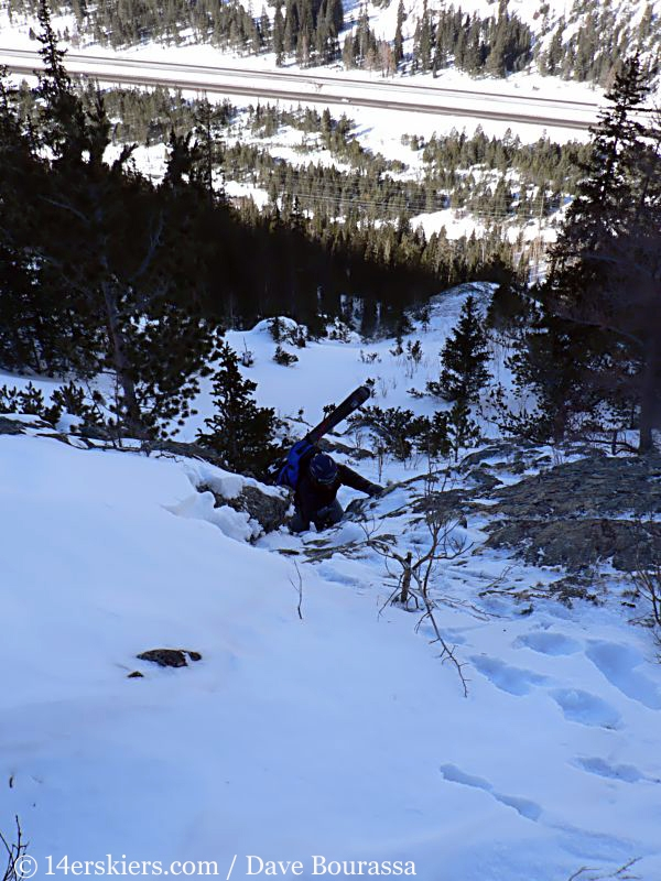 Brittany Walker Konsella backcountry skiing Tenmile Canyon