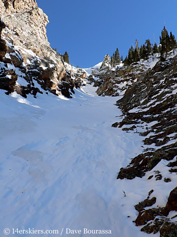 Backcountry skiing Tenmile Canyon