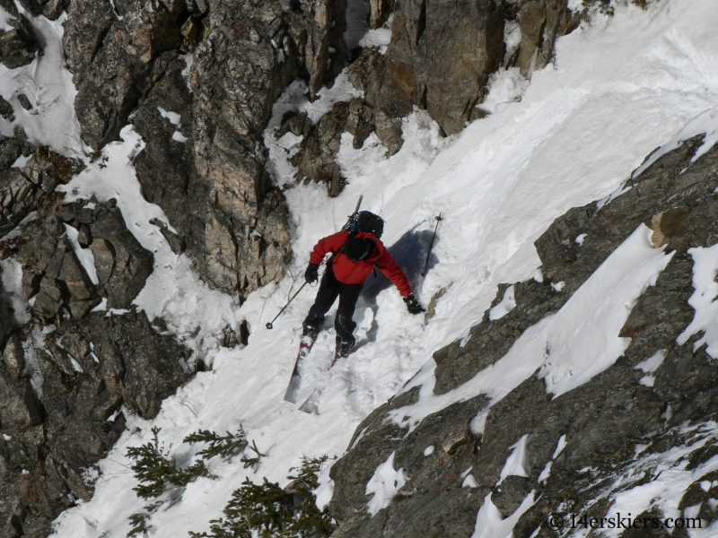 Dave Bourassa backcountry skiing Tenmile Canyon