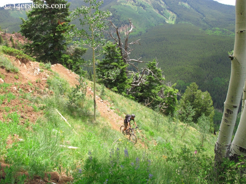 Pete Sowar riding Teocalli Ridge trail