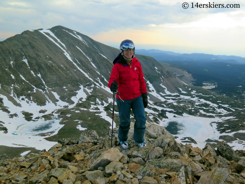 Brittany Konsella on the summit of Mount Toll.