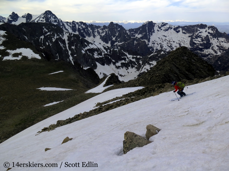 Brittany Konsella backcountry skiing on Mt Toll