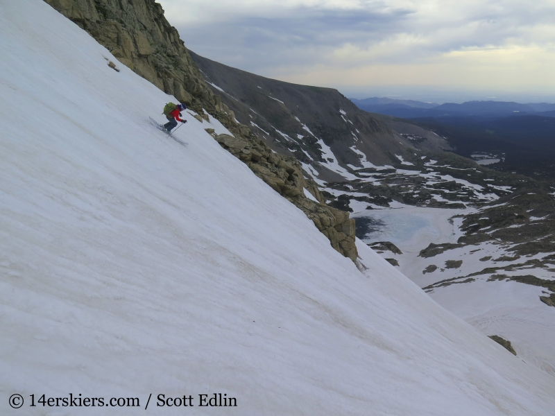 Brittany Konsella backcountry skiing on Mount Toll