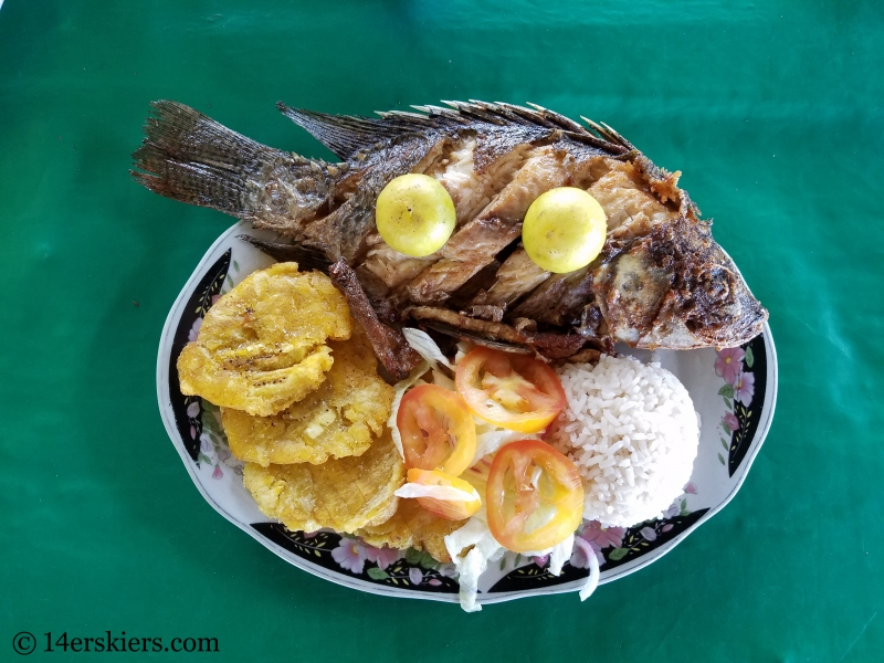 Traditional meal in Panama and Colombia.